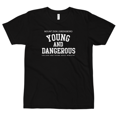 Mount Zion Young And Dangerous College Tee (White Print)