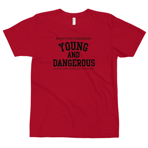 Mount Zion Young And Dangerous College Tee (Black Print)