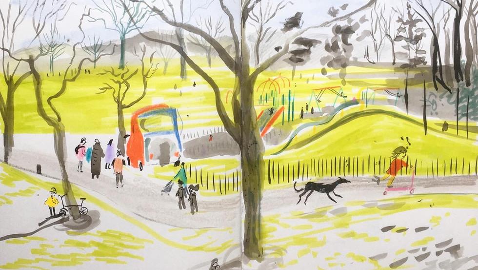 Dulwich park in Spring.JPG