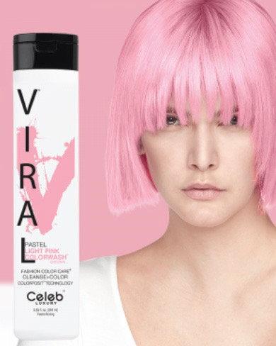 Viral Pastel Light Pink Shampoo