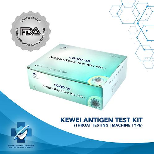Kewei Antigen Test Kit (Throat Testing   Machine Type)    FDA Approved (25)