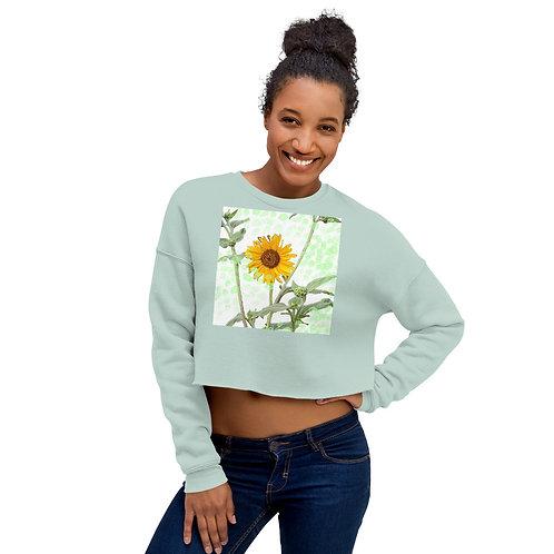 Crop Sweatshirt Sunflower