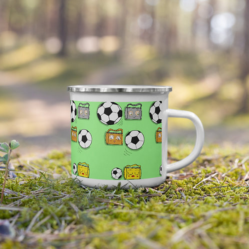 Winter hot coffee or tea time mug