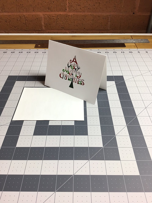 A Very Merry Christmas Tree Christmas Cards