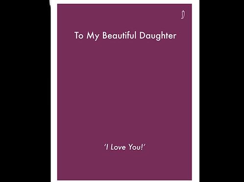 Beautiful Daughter - 03LY