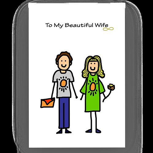 To My Beautiful Wife Anniversary