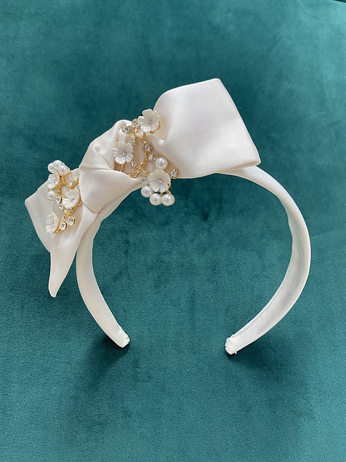 Cherry Blossom Bow Head Band