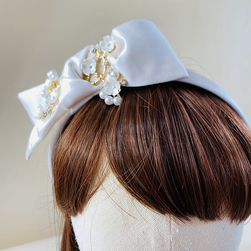 Cherry Blossom Bow Head Band