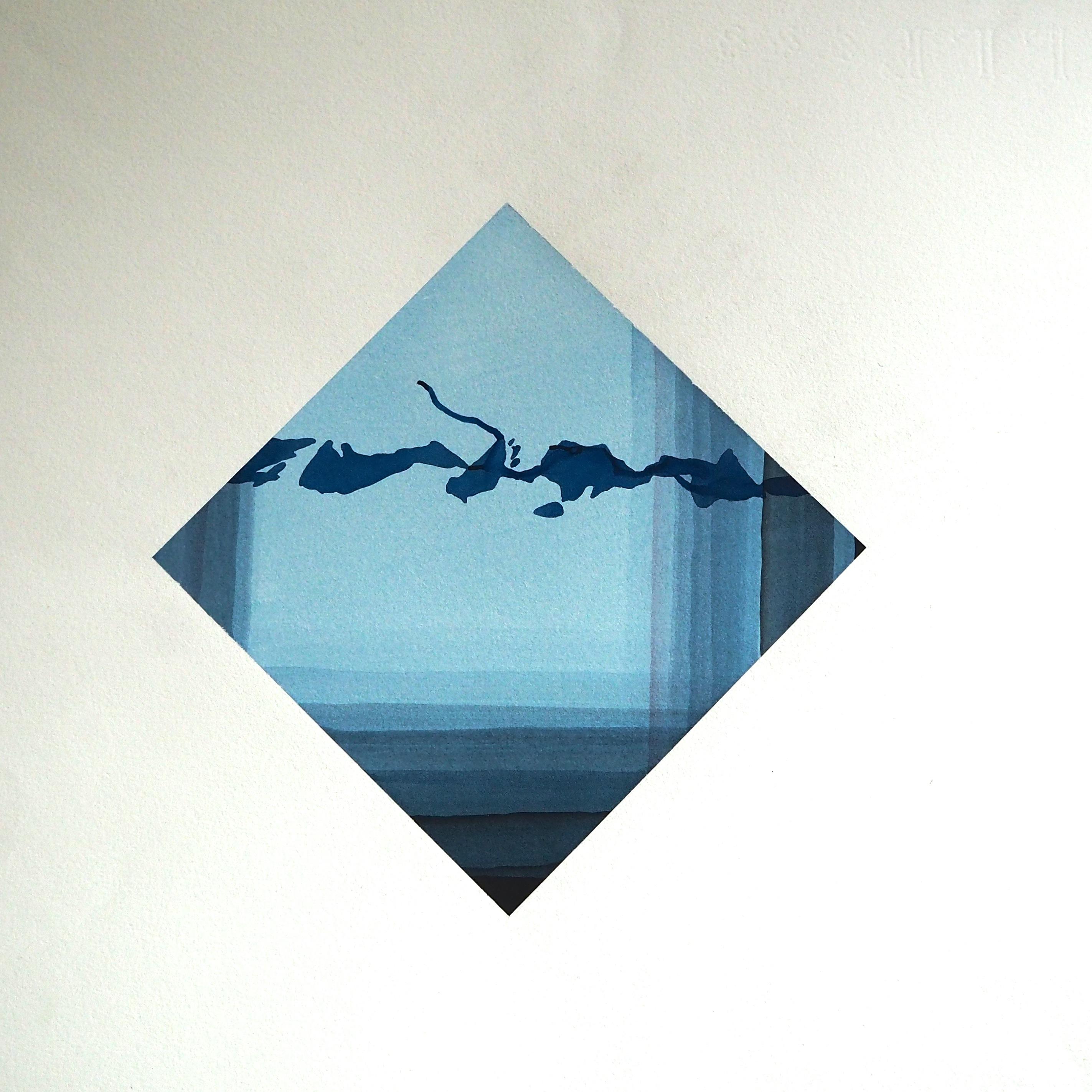 aquarelle 1975 - 60 x 60 cm
