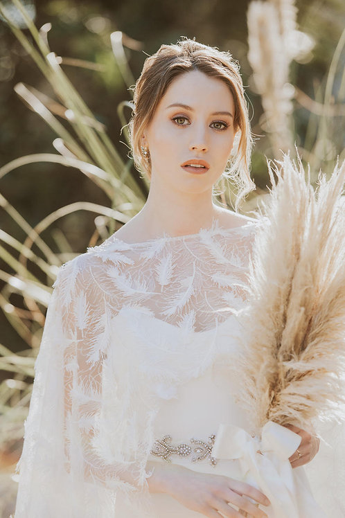 SOLD OUT - Sparkly Feather Cape Of Dreams from £250