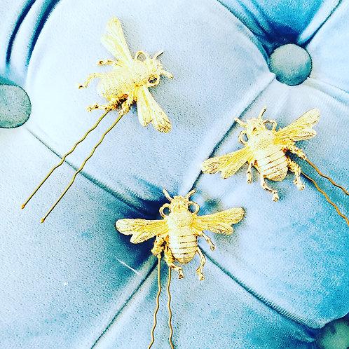 Bee Hair pins set of 3