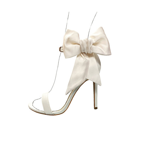 Silk satin large bow shoe accessories