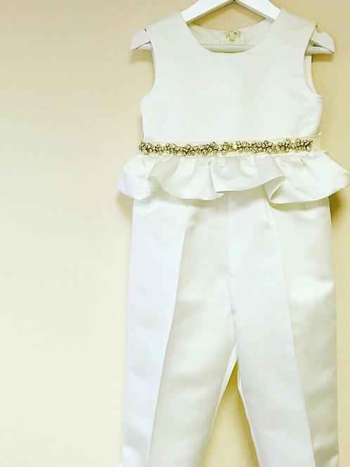 Sophie Flower Girl Navy or Ivory Jumpsuit