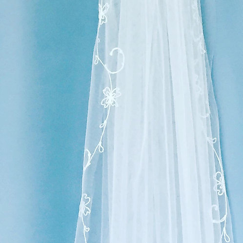 Personalized Embroidered Veil