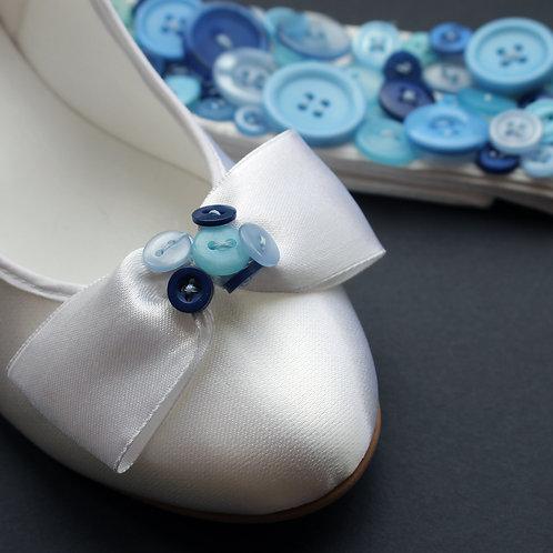 Button Bow Shoe Clips