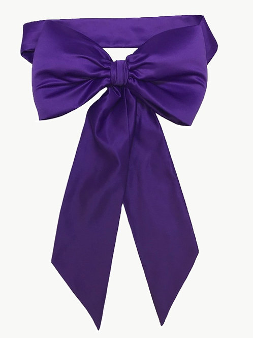 Satin Big Bow -Purple