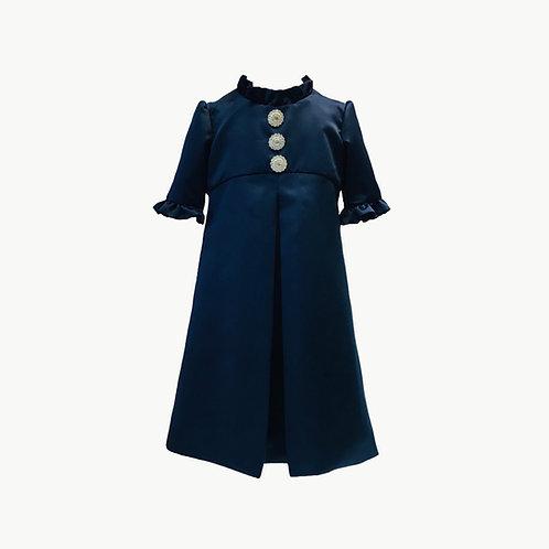 Ella Flower Girl Navy or Ivory dress