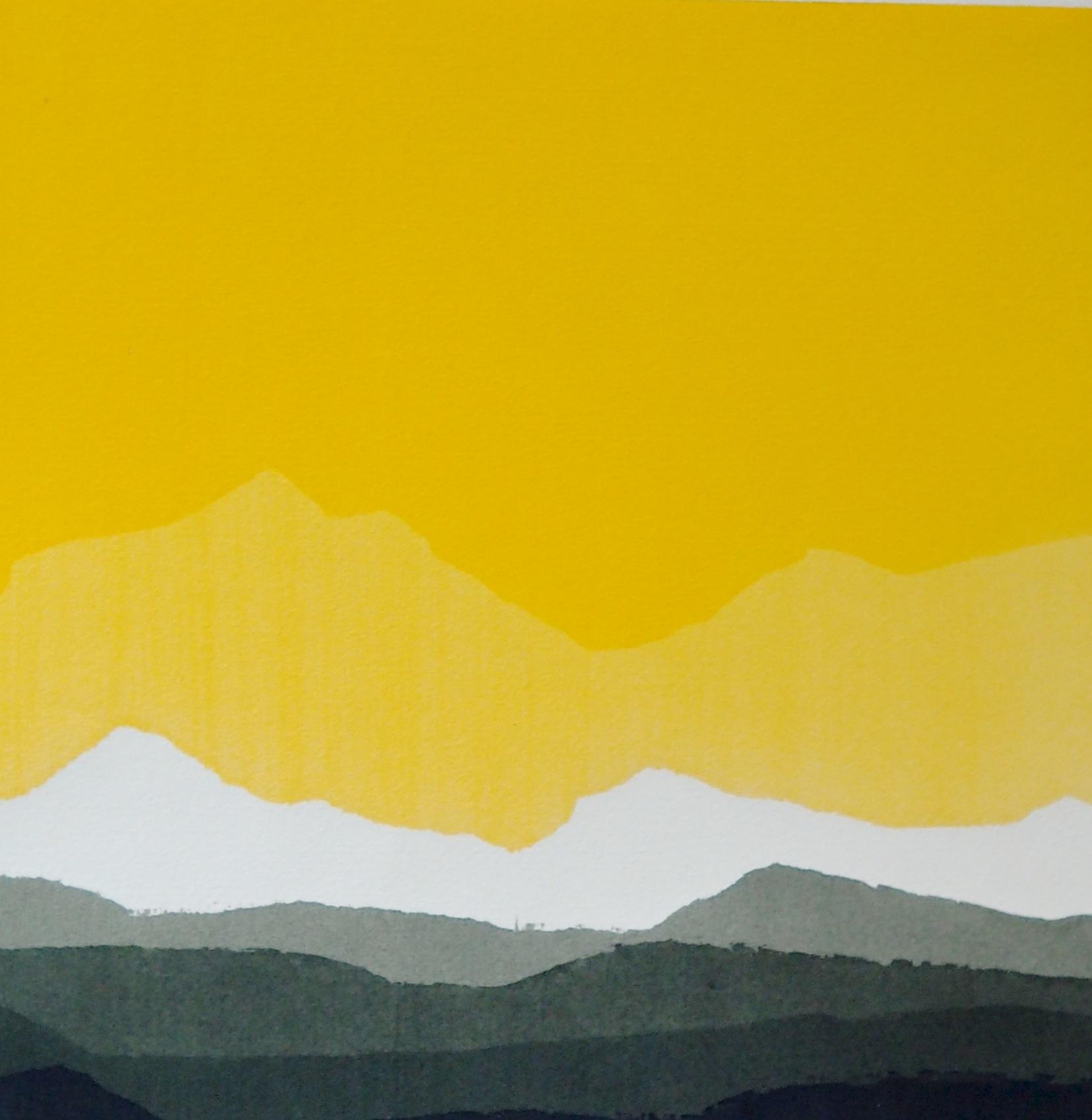 aquarelle 1975 - 40 x 40 cm