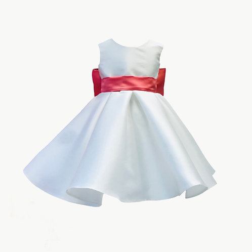 Olivia Flower Girl dress Ivory Mikado