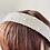 Thumbnail: Velvet Head Band Dark Cream