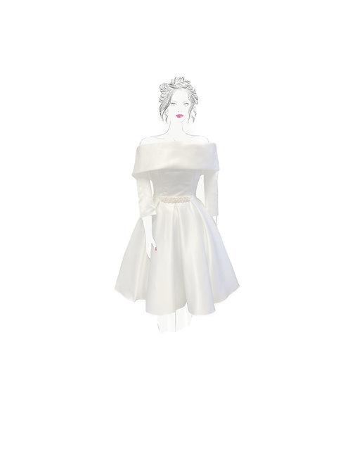 Fabric Sample - Pearltastic ivory Dress
