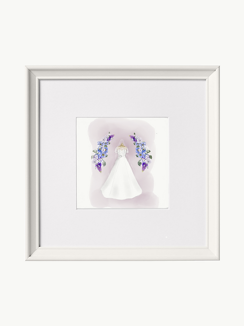 No frame ~ illustration of Your Wedding Dress