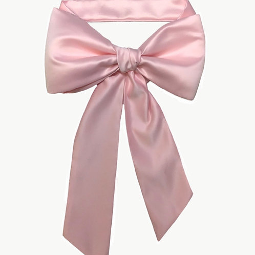 Satin Big Bow - Pale Pink