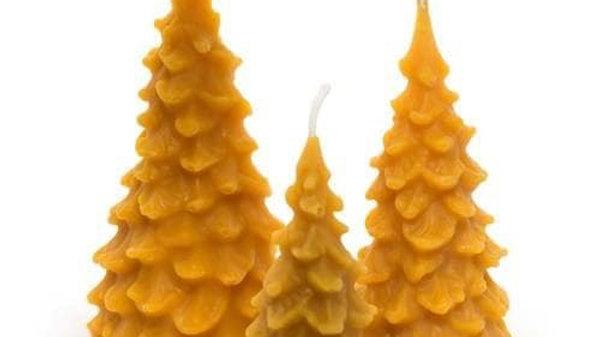 100% Pure Beeswax Fir Trees