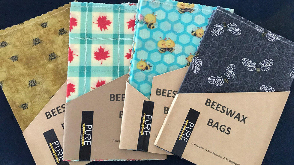 Beeswax Food Bags / Pouches