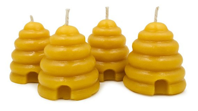 100% Pure Beehive Beeswax Candle