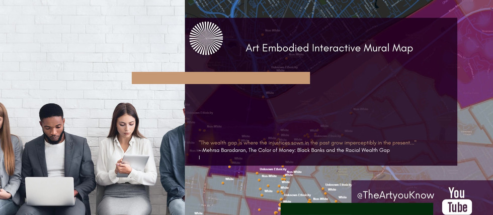 Art Embodied Interactive Mural Map Count