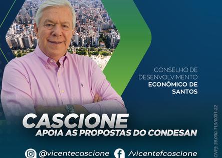 Cascione apoia as propostas do CONDESAN.