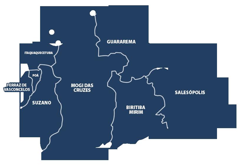 Mapa Unileste