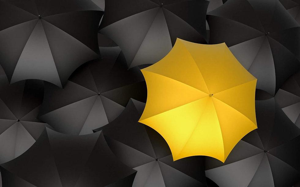 black-yellow-rainbows-umbrellas-hd-backg