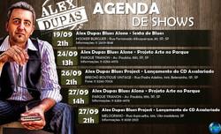 Alex Dupas Agenda setembro/2014
