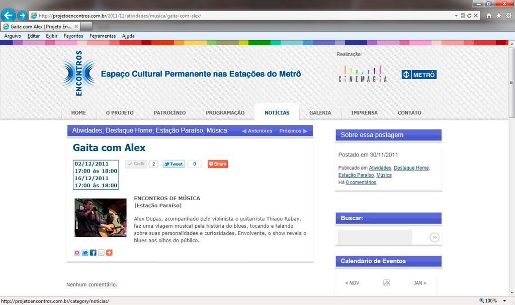 Projeto Encontros 02-12-2011