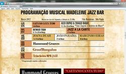 Madeleine Jazz Bar Março-2012