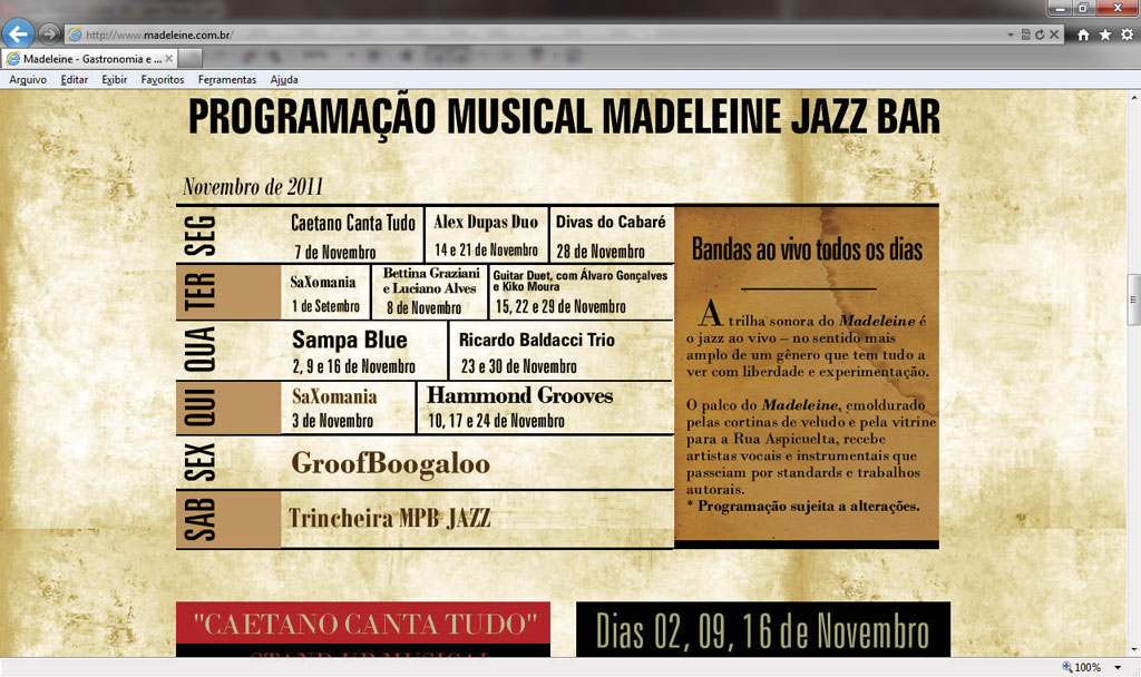 Madeleine Jazz Bar 14-11-2011