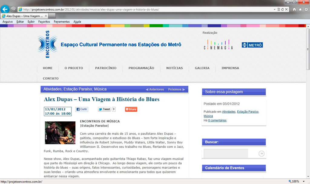Projeto Encontros 13-01-2012