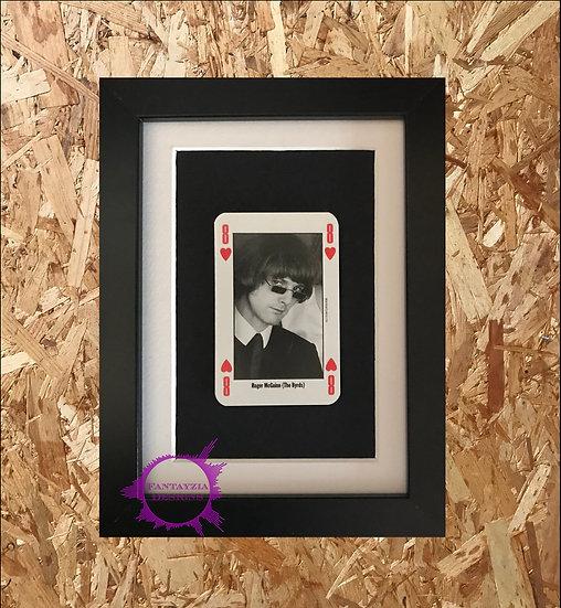 Roger McGuinn NME Framed Vintage Card
