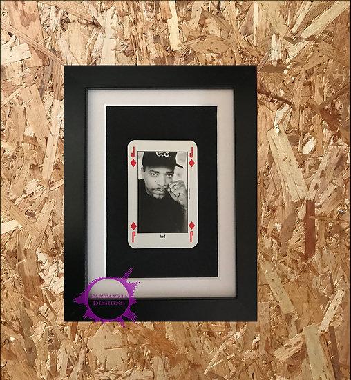 Ice T NME Framed Vintage Card