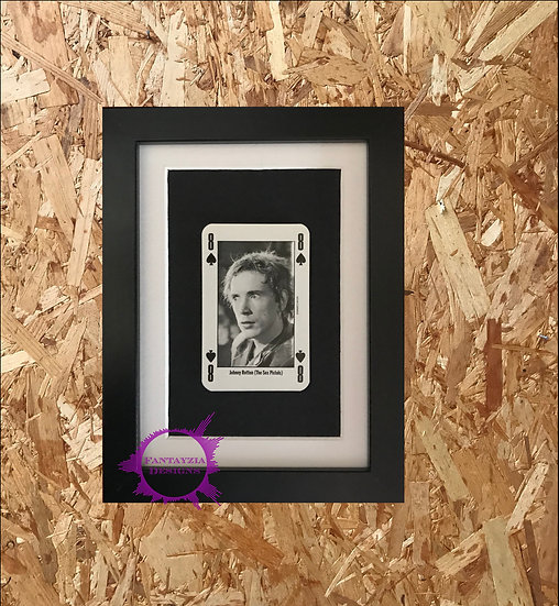 Johnny Rotten (The Sex Pistols) NME Framed Vintage Card