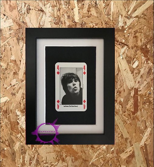 Ian Brown (The Stone Roses) NME Framed Vintage Card