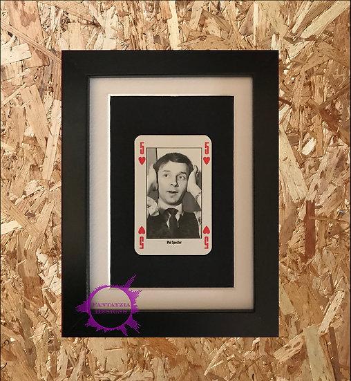 Phil Spector NME Framed Vintage Card