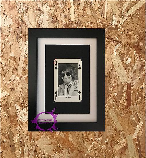 Rod Stewart NME Framed Vintage Card