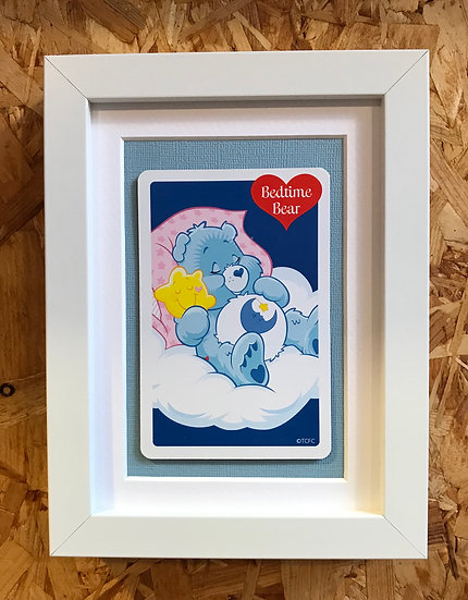 Bedtime Bear - Care Bears Framed Collectors Card.