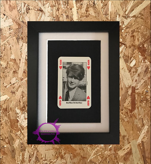 Brian Wilson (Beach Boys) NME Framed Vintage Card