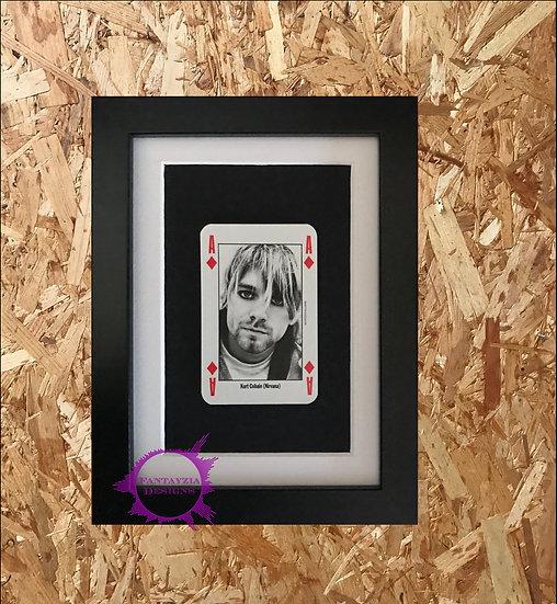 Kurt Cobain (Nirvana) NME Framed Vintage Card
