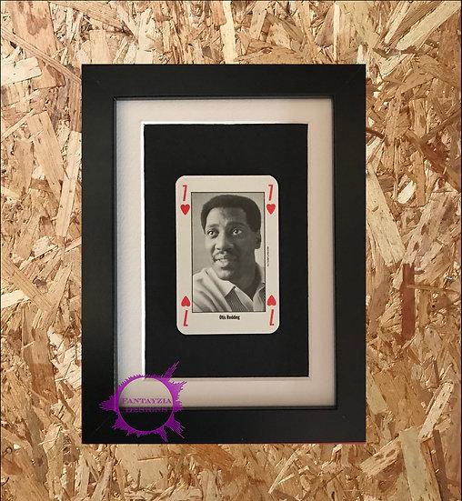 Otis Reading NME Framed Vintage Card
