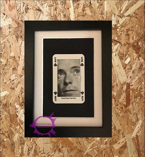 Bernard Sumner (New Order) NME Framed Vintage Card